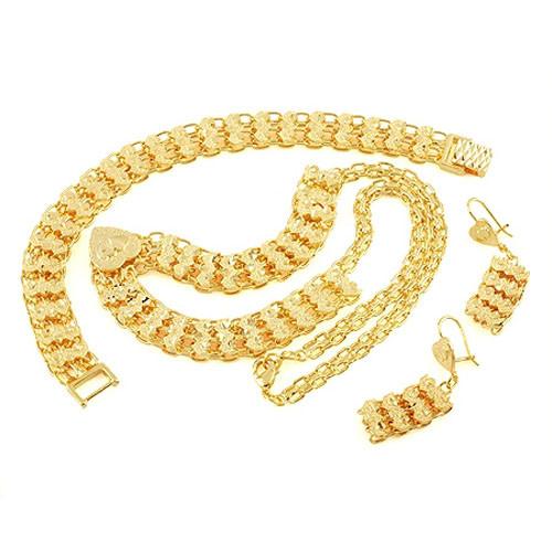желтое золото настоящее ГФ браслет серьги ожерелья porch набор специальных below страниц гарантия замены