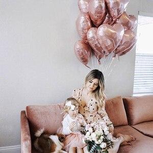 Image 4 - 50 pçs 18 polegada rosa ouro vermelho rosa folha de amor coração balões de hélio festa de aniversário casamento balões dia dos namorados globos suprimentos
