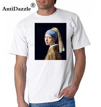Girl with a Pearl Earring by Johannes Vermeer - TShirt Women's T-shirt Women's T-shirt(China)