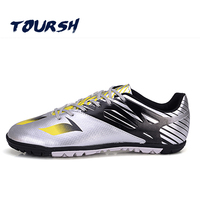 TOURSH Indoor Men Soccer Shoes Cleats Superfly Futzalki Hall Football Boots For Futsal Boys Soccer Sneakers Plus Size 33 43 EURO