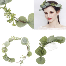 Summer Beach Style Wedding Bridal Princess Tiara Flower Crown Headband Hair Comb Prom Jewelry Accessiories
