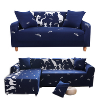 Lovely Cat Cartoon Sofa Cover Couch Loveseat L Shape Sofa Slipcover Christmas Deer And Fox Elastic