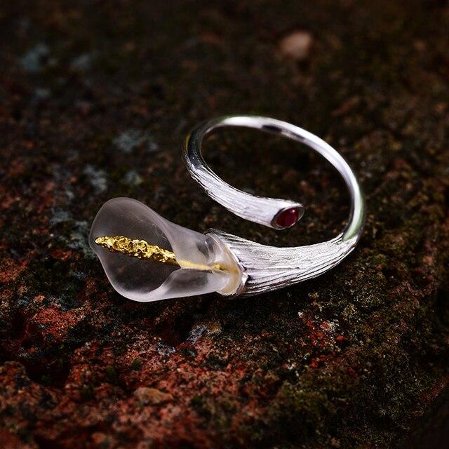 Calla Lily Handmade Flower Ring6