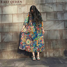 Hippie bohemian style dress hippie clothing women boho chic dresses KK1388 H(China)