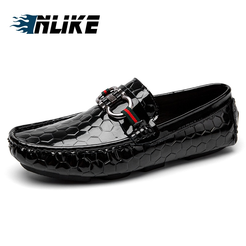 9df14cd34e72c3 En Chics Pour Mâle Inlike Mocassins Cuir Respirantes Véritable Bateau  Chaussures D'été Hommes Chaussure Mode ...