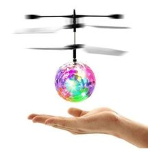 Colorful Mini Drone Shinning LED RC Drone Terbang Bola Helikopter Cahaya Bola Kristal Induksi Drone Quadcopter Pesawat Mainan Anak-anak(China)