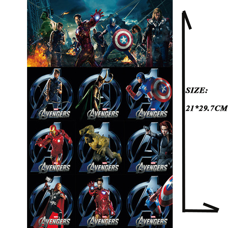 Top The Avengers  Stickers ForA4 Size Phone IPad Tablet Laptop Luggage Skateboard Bicycle Motorcycle Auto Car Styling Decal