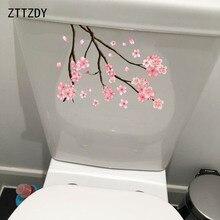 ZTTZDY 16,3*23 CM Rama de cerezo en casa moderna decoración de la pared de baño WC pegatinas T2-0030