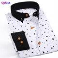 2017 Весна Новое Прибытие Мода рубашку с длинными рукавами Slim Fit звезды рубашки мужчин бренд clothing camisa социальной masculina