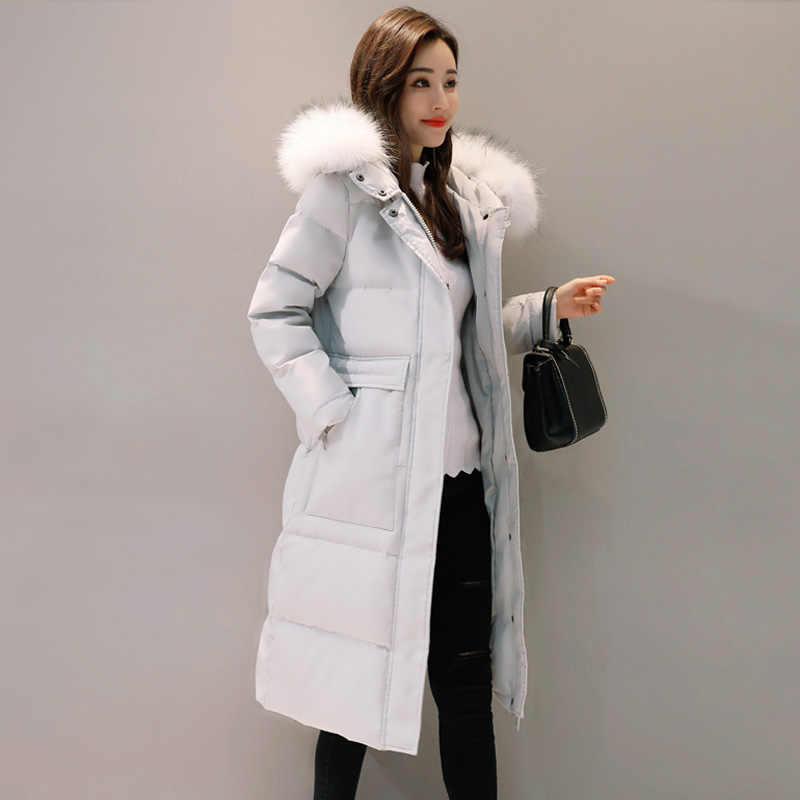 e7f43f258 AYUNSUE Women's Winter Jacket Korean Plus Size Down Jacket Women Big Fur  Collar Womens Coat Overcoat Parkas Mujer 2018 KJ433