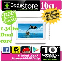 10.2 inch 16GB Boda GOOGLE ANDROID Jelly Bean 4.4 TABLET PC CAPACITIVE SCREEN E READER PAD TAB Bundle 8G TF CARD