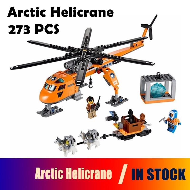 Bela 10439 City Series Arctic Helicrane Model building kits compatible with lego city 60034 3D blocks Educational toys hobbies bela 10439 compatible lepin city arctic helicrane building blocks policeman figure toys for children girls