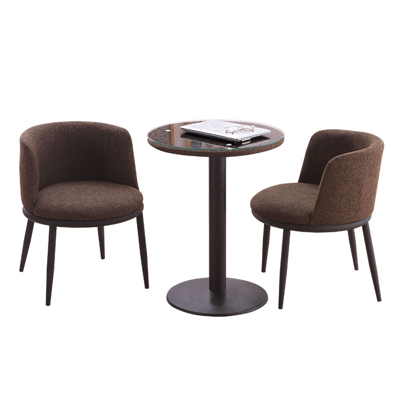 Simple Casual Dining Table And Chairs Balcony Small Round Table Home Negotiating Reception Chair Combination Coffee Shop Chair(China)