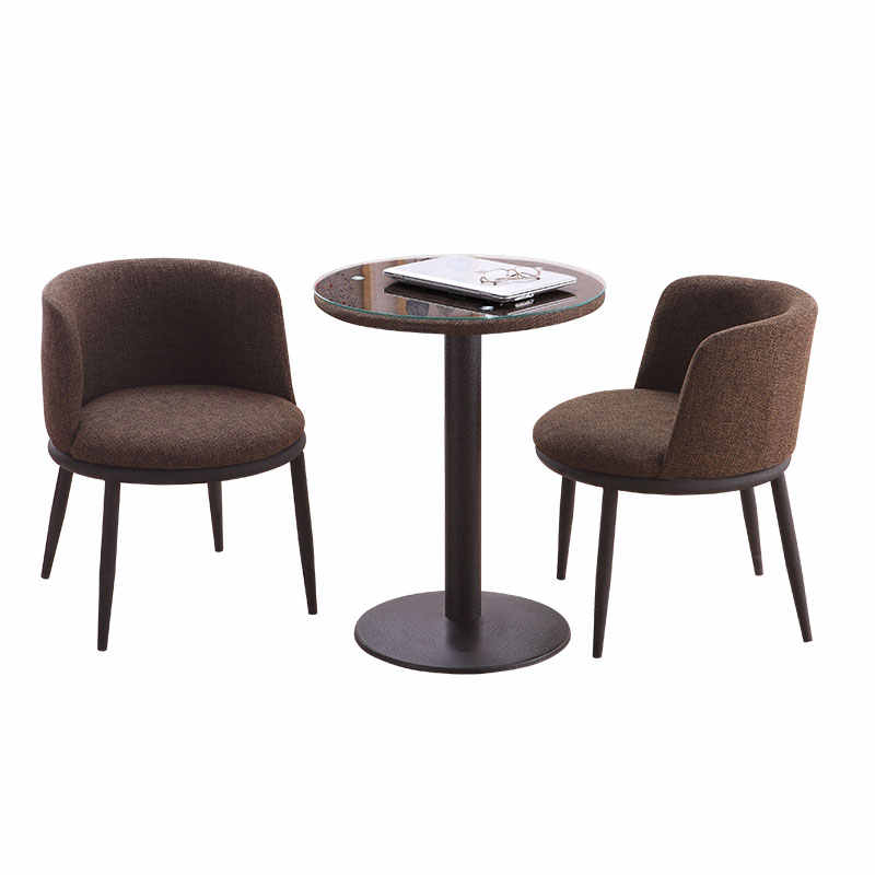Simple Casual Dining Table And Chairs Balcony Small Round Table Home Negotiating Reception Chair Combination Coffee Shop Chair Cafe Chairs Aliexpress