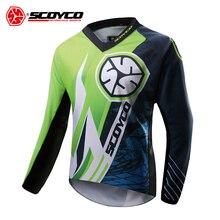 SCOYCO Motorcycle Jacket Motocross Clothing Men Off-road T-shirt Ride Bicycle Long-sleeve Shirt Moto Jersey