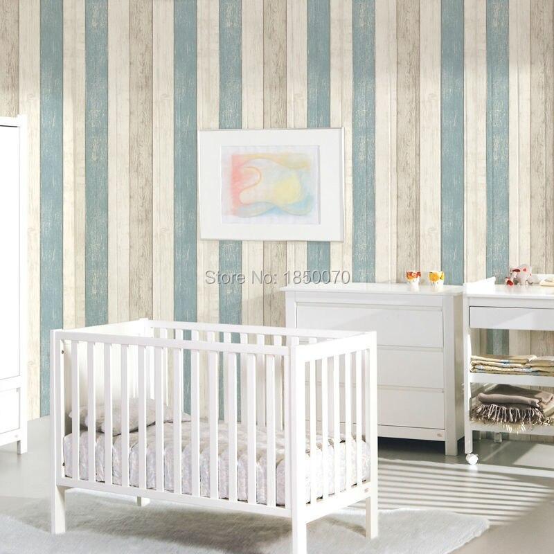 aliexpresscom comprar levinger estilo mediterrneo pvc de papel azul papel pintado de rayas verticales romntica decoracin del hogar de wallpaper style