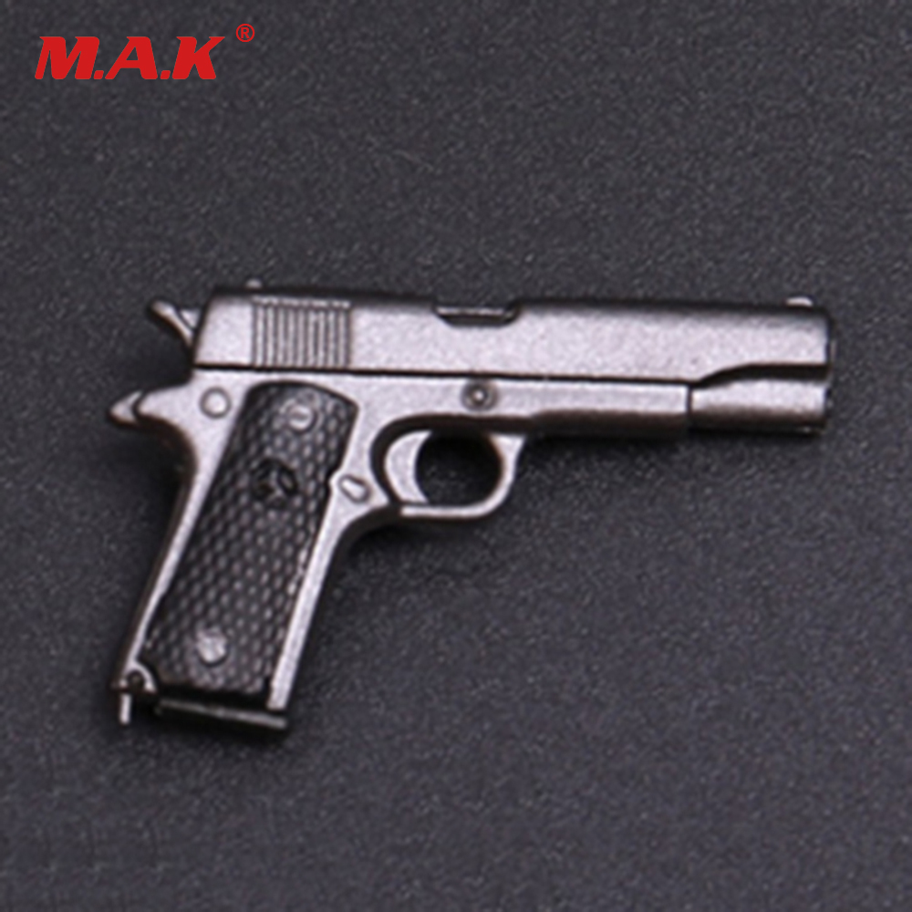 1/6 M1911 Gun Pistol Rife Figure Scene Model Toy Gun Model Weapon Toy for 12 inches Soldier Figure Accessories 1 6 scale soldier figure weapon accessories distressed sniper rifle pistol gun model toy with box for action figure dolls