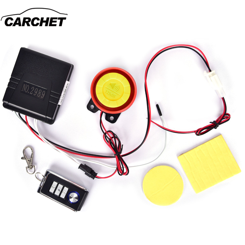 CARCHE Motorcycle Alarm Motor Anti-theft Security Alarm System Arming Vehicle Finder Integrated Plate Main Engine Scooter