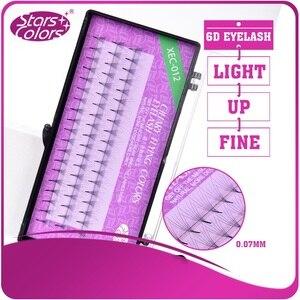 Image 3 - 50 boxes Natrual 0.07mm Super Soft Silk Lashes 6D Fake False Eyelashes Mink Eyelash Extension Cilia Makeup Tools