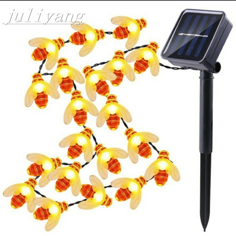 juliyang 6m 30LED bee light string creative solar usb battery waterproof outdoor gardent for Christmas  holiday decoration juliyang 6m 30LED bee light string creative solar usb battery waterproof outdoor gardent for Christmas  holiday decoration