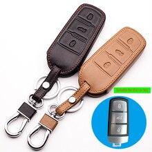 1b23411902d Lederen Portemonnee Autosleutel Houder Case key cover Volkswagen VW B8L B8  Passat CC Magotan 2015 2016 2017 Sleutelhanger Ring