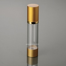 50ML matte gold airless bottle for lotion emulsion serum liquid foundation whitening essence sin care cosmetic packing