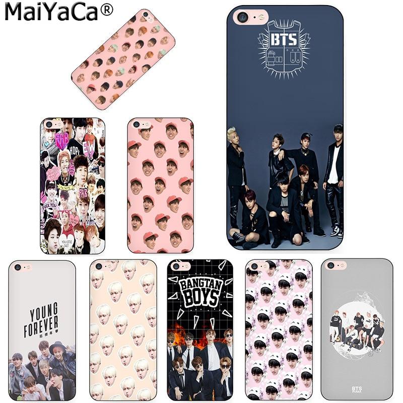 MaiYaCa z BTS Boys Newest Super Cute Phone Cases for Apple iPhone 8 7 6 6S Plus X 5 5S SE 5C Cellphones