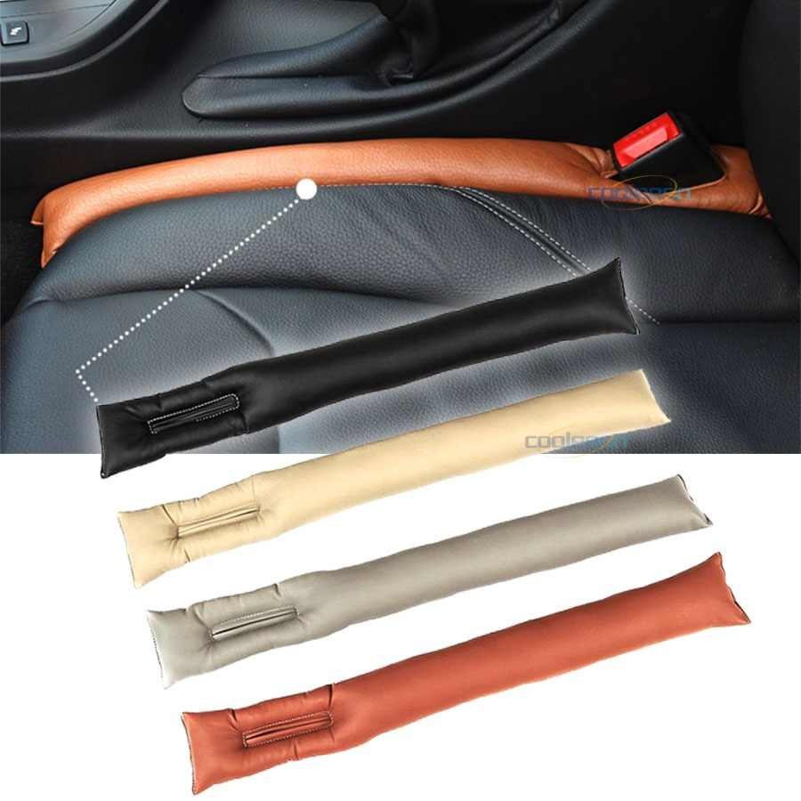 2pcs Leather Auto Seat Gap Filler Spacer Stopper Anti Drop Car Chair Space Filling Strip Leak Stop Phone Pad Blocker Holster