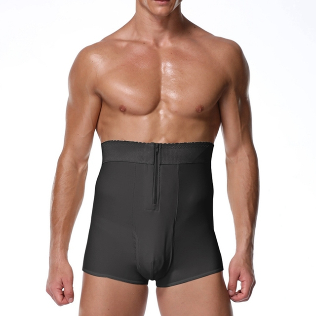 S-6XL Men Padded Butt Lifter panties fitness Waist trainer shapewear steampunk men Tummy Trimmer Corset Man pad Control Panties