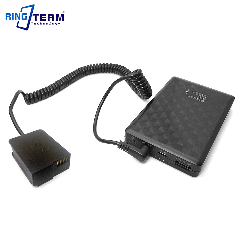DMW BLC12 DCC8 DC Coupler + 28WH Power Bank for Panasonic Cameras Lumix DMC FZ2500 FZ2000 FZ200 FZ300 G5 G6 G7 GX8 G80 G81 G85