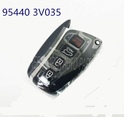 Entry Remote Control Folding Key  Smart Key Fob Remote for hyundai  Grandeur Azera 2015 2016 954403V035 95440 3V035 Performance Chips     - title=