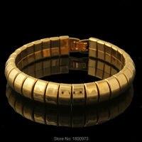 Новый Модный Браслет Cool Мужчины Вакуума золота 11 ММ Цепь Толщиной Браслеты и Браслеты Для Женщин/Мужчин ювелирные изделия