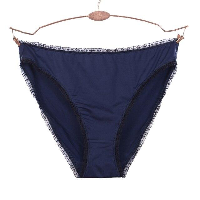ef65096c86 Women s Smooth Brief Sexy High Cut Panties Navy Blue Tanga Underwear Women