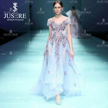 Cap Sleeves Embroidery Dyed Lace Pattern Tulle Fairy Back Embellishments New  Arrival Lady Purple A line 2a90d6a879cc