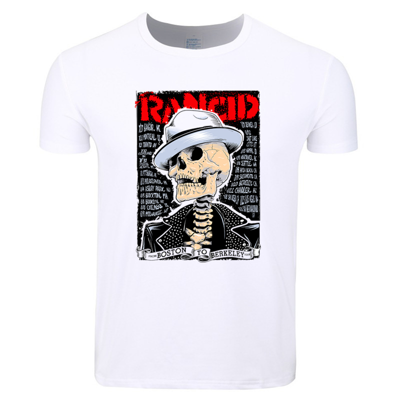 Asian Size Men Women Print Rancid Punk Music Band Fashion T-shirt O-Neck Short Sleeves Summer Casual T-shirt Hip Hop HCP4171