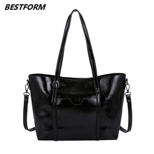 BESTFORM Leather Bags Women 2019 Retro Shoulder Bag Luxury Large Capacity Classic Female Handbag Designers Ladies Messenger Bag