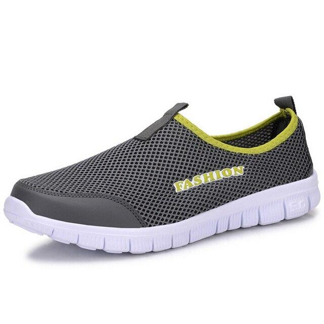 2017 Новая Коллекция Весна Лето Мужчины Повседневная Обувь Мода Твердые Дыхания Воздух Сетки Легкие Плоские Ботинки Chaussure Femme