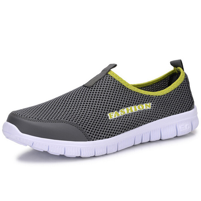 2017 Nueva Primavera Verano Hombres Zapatos Casual Fashion Solid Air Mesh Transp
