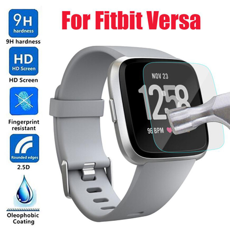 9H Tempered Glass For Fitbit Versa Fitness Tracker Bracelet Watch Anti-scratch Screen Protector Skin Protective Film Guard fitbit watch
