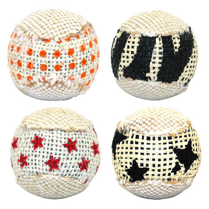 4pcs/lot Ball Cat Toy Interactive Cat Toys Interesting Play Chewing Rattle Scratch Catch Pets Kitten Cat Exercise Toy Balls