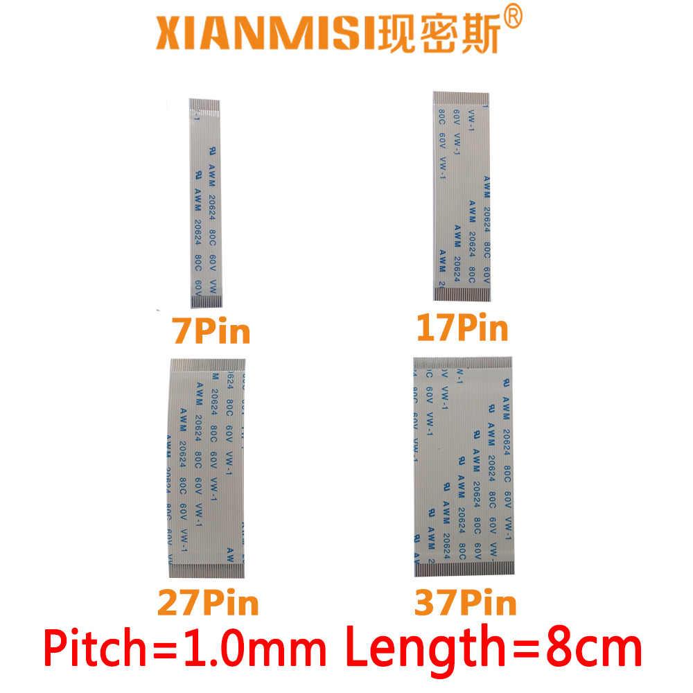 FFC/FPC Platte Flex Lint Kabel 7Pin 17Pin 27Pin 37Pin Dezelfde Kant 1.0mm Pitch AWM VW-1 20624 20798 80C 60 V Lengte 8 cm 5 STKS