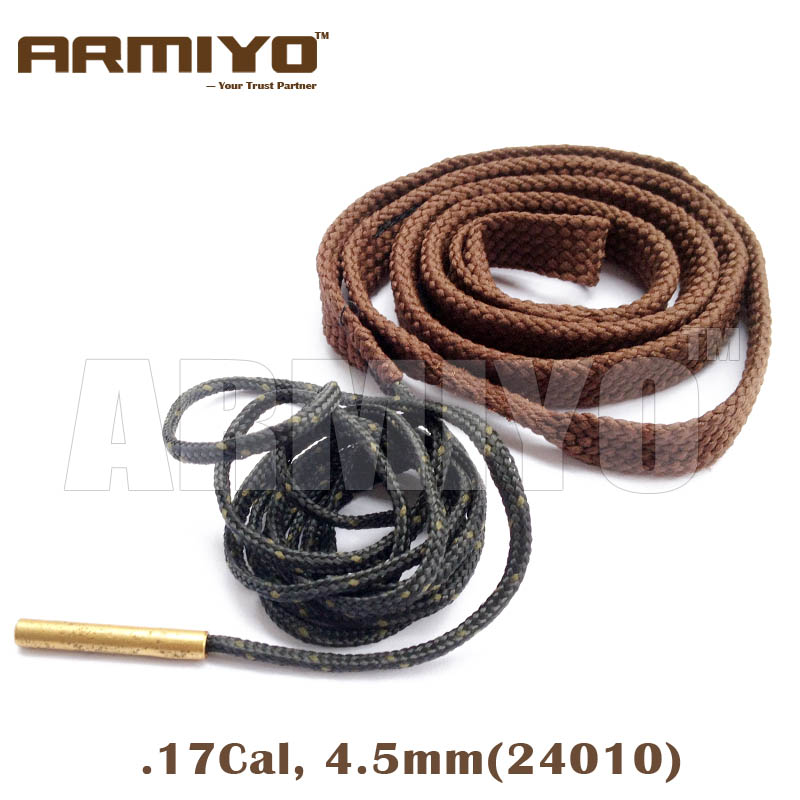 Armiyo Bore Snake Air Gun Barrel Cleaner 4.5mm, .17 Cal 24010 Hunting Airsoft Cleaning Kit Shooting Accessories