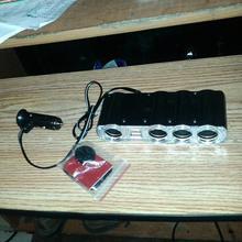 Автомобильный прикуриватель 4 способа мульти-разъем автомобильное зарядное устройство автомобильный разъем прикуривателя Разветвитель и двойной usb порт штекер автомобильный адаптер
