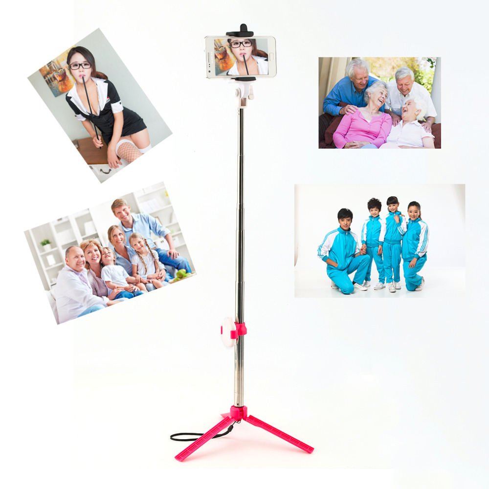High Quality Bluetooth Cell Phone Selfie Stick Monopod Tripod For Iphone