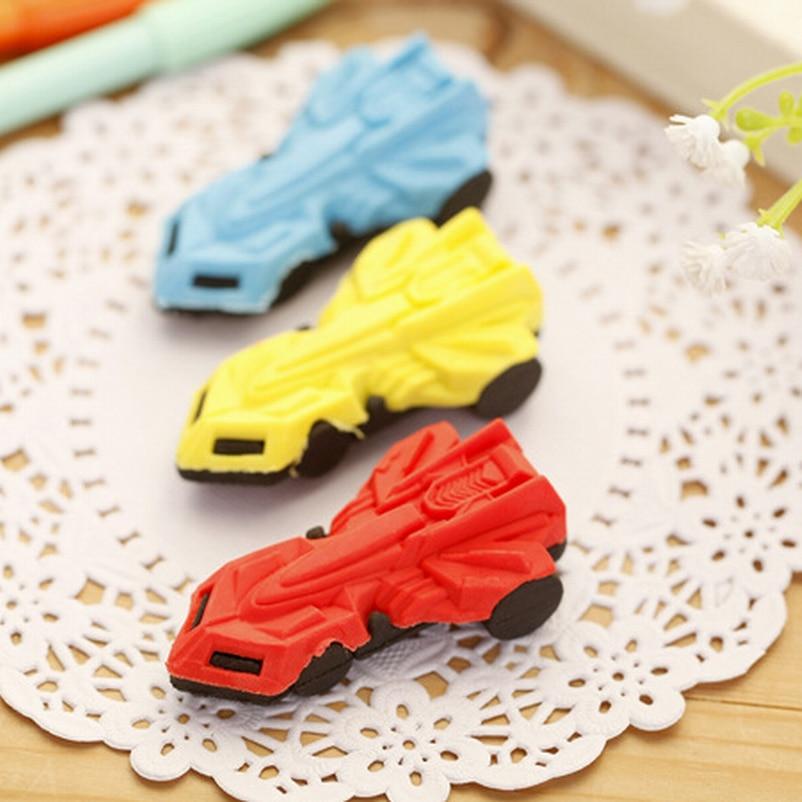 Wholesale 120PC Super Kawaii Children Cartoon Car Pencil Erasers Rubber Eraser For Kids School Office Supplies Kids Gift