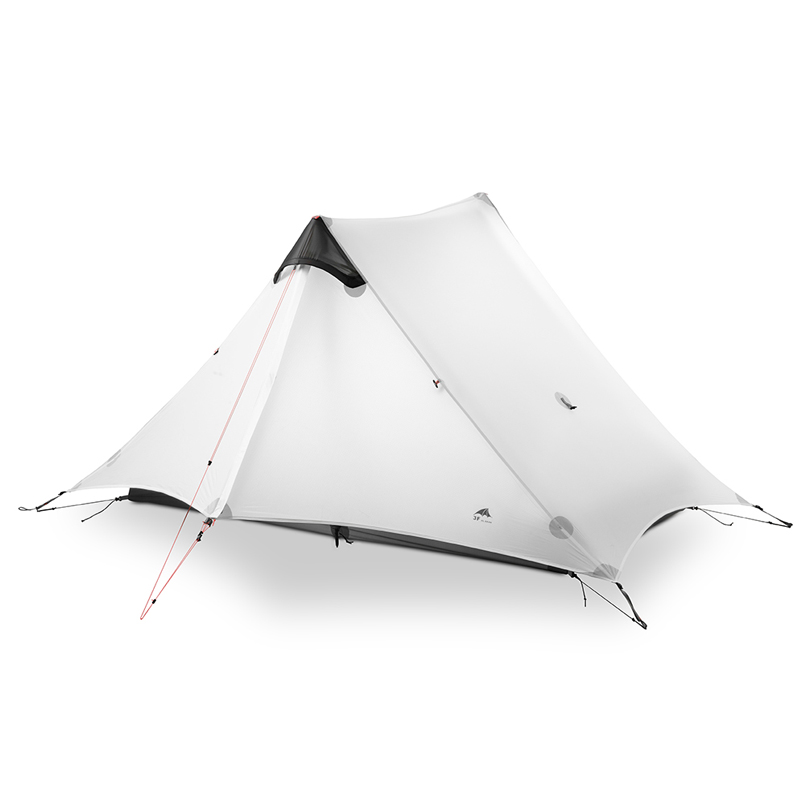 3F UL ENGRENAGEM LanShan 2 Pessoa Barraca de Camping Ultralight 3/4 Temporada Barraca de Acampamento Ao Ar Livre Equipamentos de 2019 novo preto/vermelho /branco/amarelo - 2