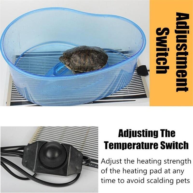 ПЭТ рептилии тепловой коврик Террариум скалолазание теплые прокладки 5-45 Вт настраиваемый регулятор температуры коврики маленький нагрева...