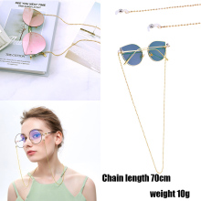 Fashion Women Gold  Eyeglass Chains Sunglasses Reading Beaded Glasses Chain Eyewears Cord Holder neck strap Rope D30