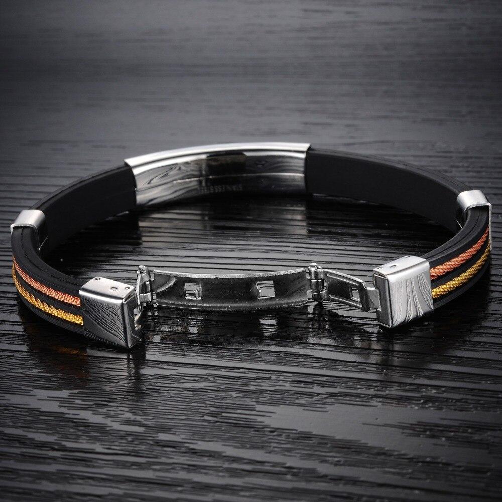 Armbänder & Armreifen Schmuck & Zubehör Herzhaft Klassische Männer Wrap Armband Mode Neue Silikon Edelstahl Schmuck Armband Freund Geschenk 3-ph841 Verbraucher Zuerst
