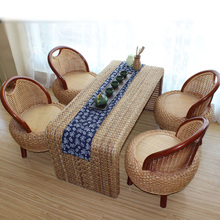 100% Handmade rattan chair set rattan furniture rattan sofa living room furniture small outdoor/indoor rattan sofas Dining chair